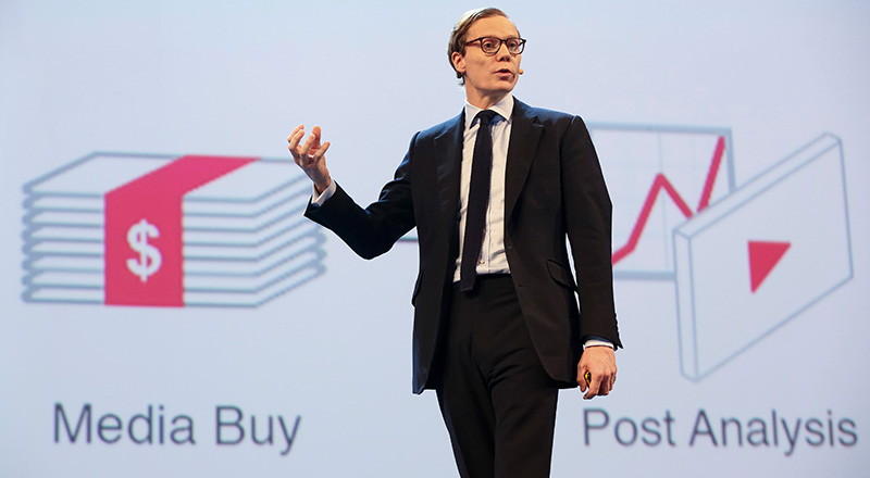 Alexander Nix, CEO di Cambridge Analytica (Foto de Il Post)