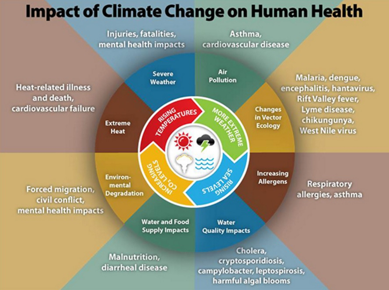 Climate change and man